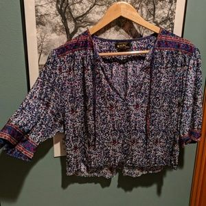Floral Crop Top, Made in Rome